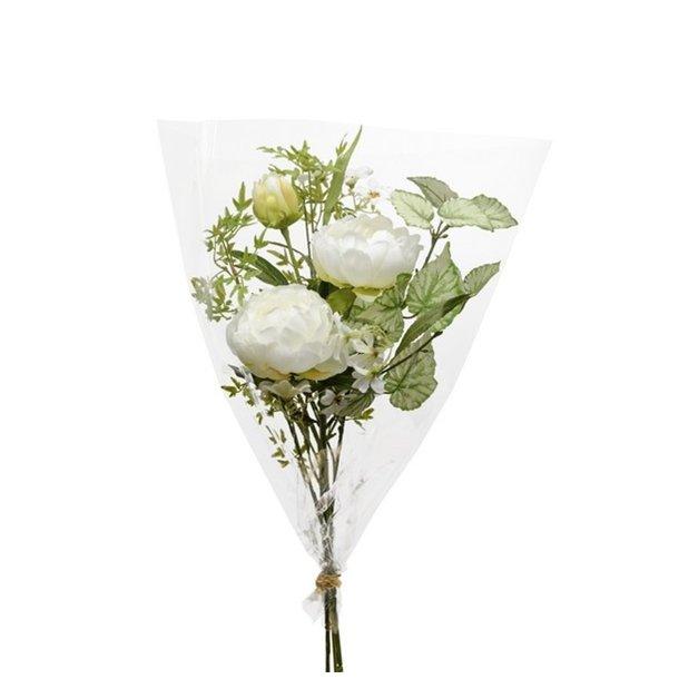 Kunstig blomsterbuket - Pure white