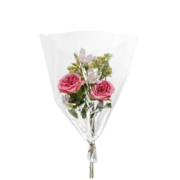 Kunstig blomsterbuket - Pink Roser