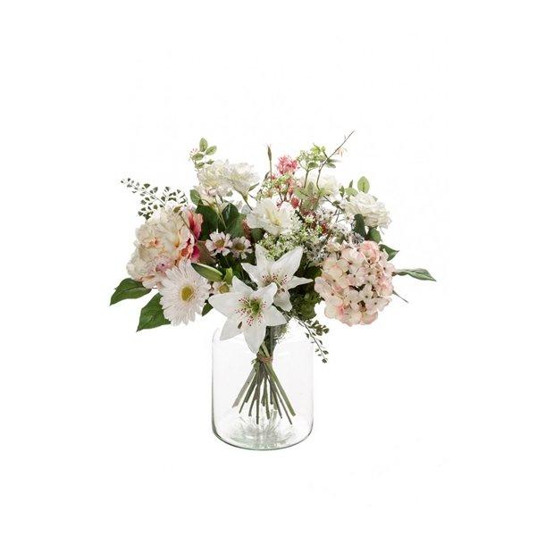 Kunstig blomsterbuket - Soft pastels